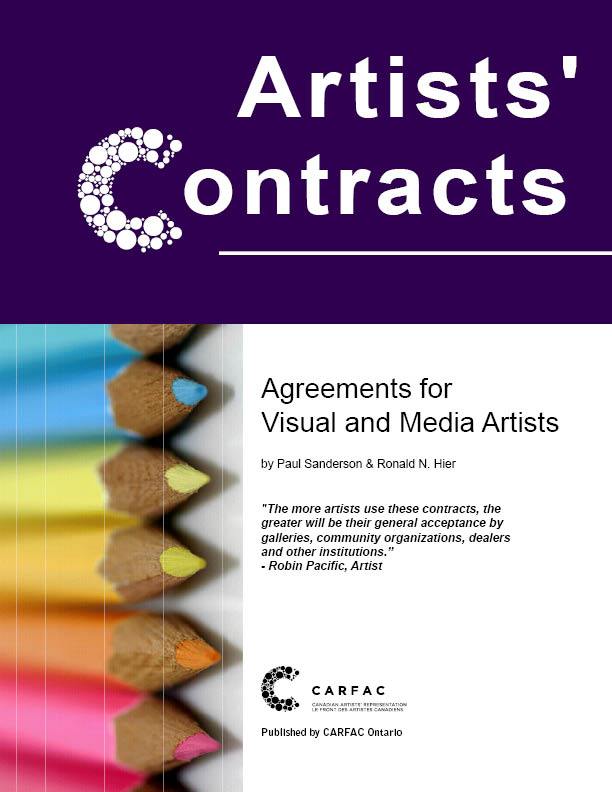 Carfac Ontario - Artists' Contracts: Agreements For Visual And