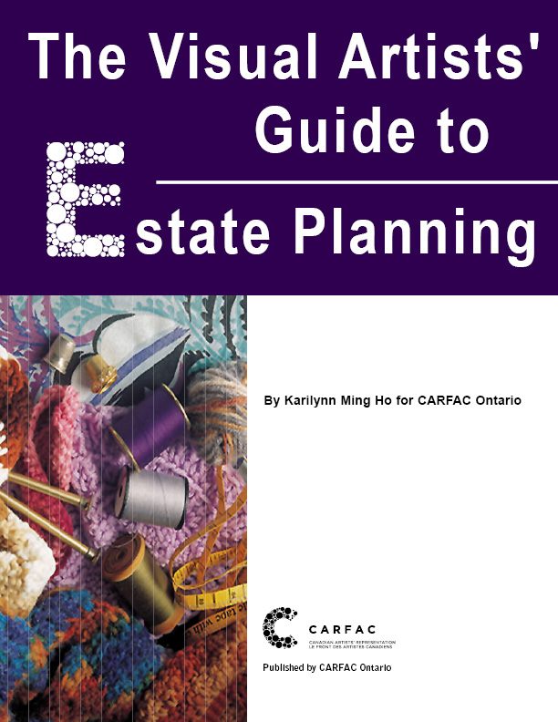cover of The Visual Artists' Guide to Estate Planning publication